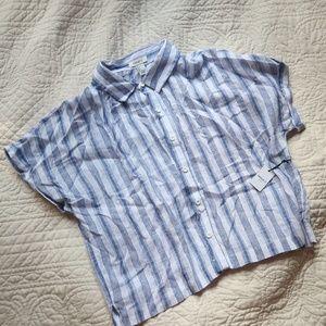 NWT Striped Linen Shirt